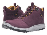 Teva Arrowood Lux Mid Wp Grape Wine Women's Shoes Purple