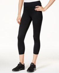 Jessica Simpson The Warm Up Juniors' Cropped Active Leggings Black