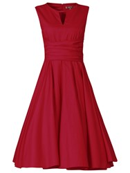 Jolie Moi Keyhole Neckline 50S Dress Red