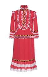 Gem Marzo Ruches Long Sleeve Dress Red