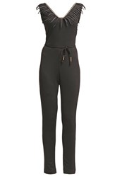 Morgan Piesta Jumpsuit Noir Black