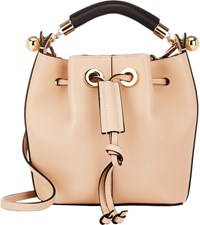 chloe pink medium gala bucket bag