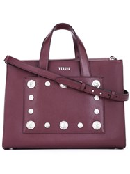 Versus Studded Tote Red