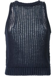 3.1 Phillip Lim Chunky Knit Tank Top Blue
