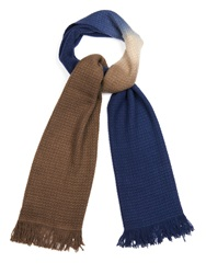 Colombo Dip Dye Print Cashmere And Silk Blend Scarf