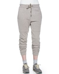 Brunello Cucinelli Drawstring Waist Sweatpants Bran Women's