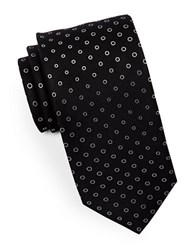 Hugo Dotted Silk Tie Black