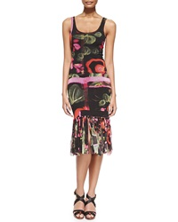 Jean Paul Gaultier Printed Fringe Bottom Tank Dress