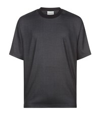 Solid Homme Contrast Collar T Shirt Male Dark Grey