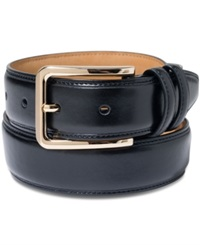 Club Room Gold Buckle Dress Belt Black