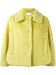 Dorothee Schumacher Single Breasted Cropped Jacket Green