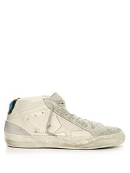 Golden Goose Midstar Leather And Suede Trainers White Multi
