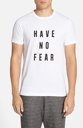 French Connection 'Aj Have No Fear' Graphic T Shirt White