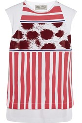 Etre Cecile Striped Cotton Tank Red