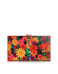 Charlotte Olympia Multicolor Frida Print Pandora Box Clutch