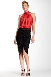 L.A.M.B. Ruched Skirt Black