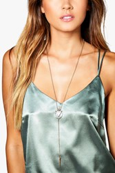 Boohoo Triangle And Circle Plunge Choker Gold