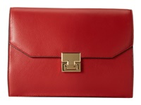 Ivanka Trump Hopewell Clutch Red Pebble Clutch Handbags