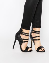 Truffle Collection Rita Strappy Heeled Sandals Black