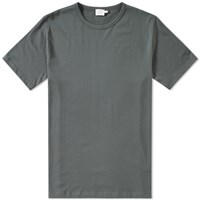 Sunspel Q82 Crew Neck Tee Grey
