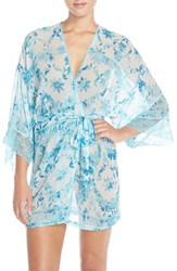 Women's In Bloom By Jonquil Print Short Robe
