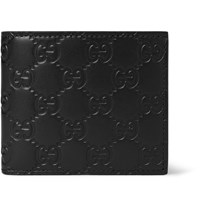 Gucci Embossed Leather Billfold Wallet Black