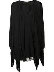 Plein Sud Jeans V Neck Blouse Black