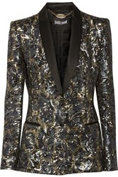 Just Cavalli Sequined Satin Blazer