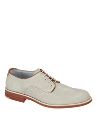 Johnston And Murphy Ellington Suede Plain Toe Oxfords White