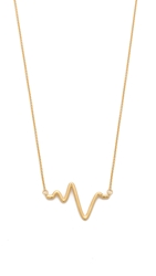 Sarah Chloe Large Heartbeat Necklace Gold