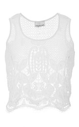 Miguelina Ellease Scallop Lace Top White
