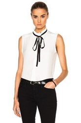 Frame Denim Sleeveless Top In White