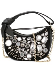 Borbonese Embellished Mini Shoulder Bag Black