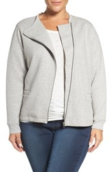 Sejour Plus Size Women's Quilted Moto Jacket