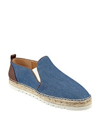 Nine West Noney Denim Slip On Sneakers Denim Blue