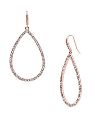 Lauren Ralph Lauren Pave Teardrop Hoop Pierced Earrings Rose Gold