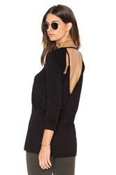 Chaser Scoop Neck Long Sleeve Tee Black