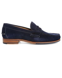 Sebago Navy Conrad Penny Suede Boat Shoes Blue