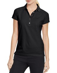 Ralph Lauren Home Mesh Sleeve Cotton Polo Black