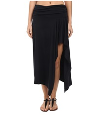 Michael Kors Draped Cover Up Skirt Black Women's Swimwear