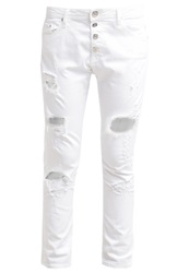 Replay Pilar Relaxed Fit Jeans White White Denim