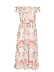 Mother Of Pearl Lydia Valentines Print Silk Dress