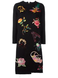 Aries Embroidered Details Dress Black