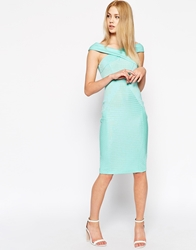 Asos Cross Front Bodycon Bandage Dress Mint