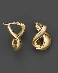 Bloomingdale's 14 Kt. Yellow Gold Foldover Earrings No Color