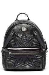 Mcm Dual Stark Studded Leather Backpack