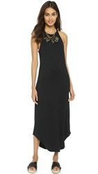 Lna Leigh Bib Tank Dress Black