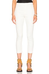 Isabel Marant Lindy New Stretch Cotton Pants In White