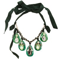 Ley Ley Stone Necklace Green