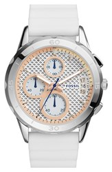 Women's Fossil 'Modern Pursuit' Chronograph Silicone Strap Watch 39Mm